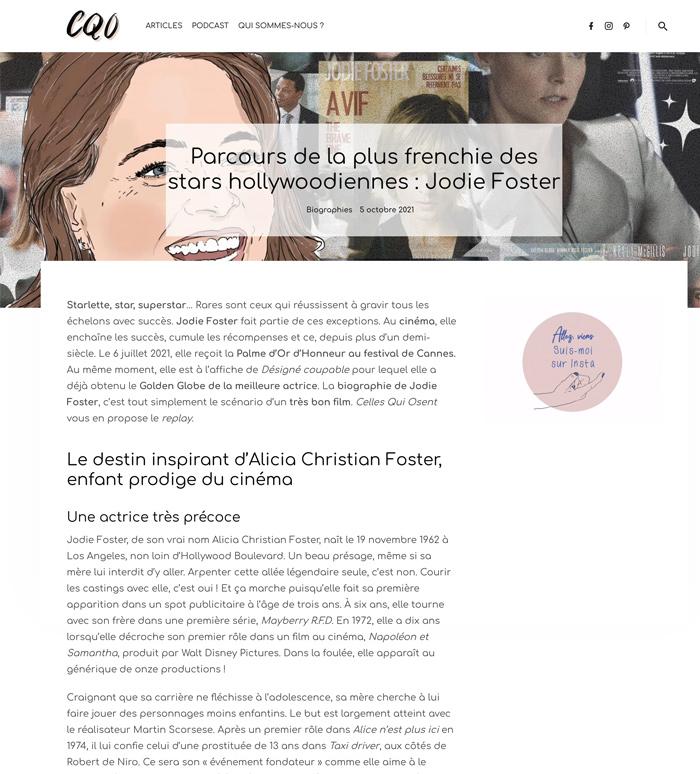 Biographie de Jodie Foster